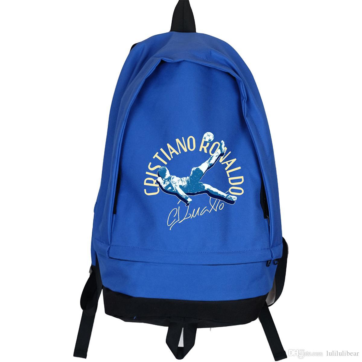 رونالدو ميسي قماش ظهره الرجال النساء السفر قدرة كبيرة حقيبة بوي فتاة مدرسة حقيبة القدم الكرة bagpack الظهر mochila اجتماعيون