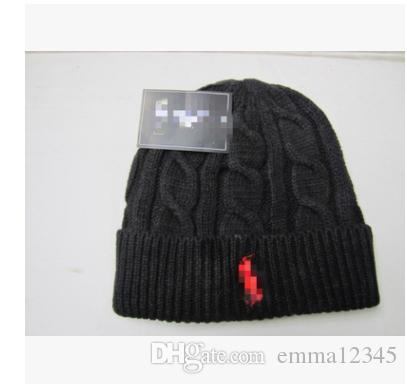 2018 Beanies Fashion Designer Skull polos Beanies Hats For Adults Men Women Winter Beanie Pom Knit Blank Hip Hop Slouchy Cap