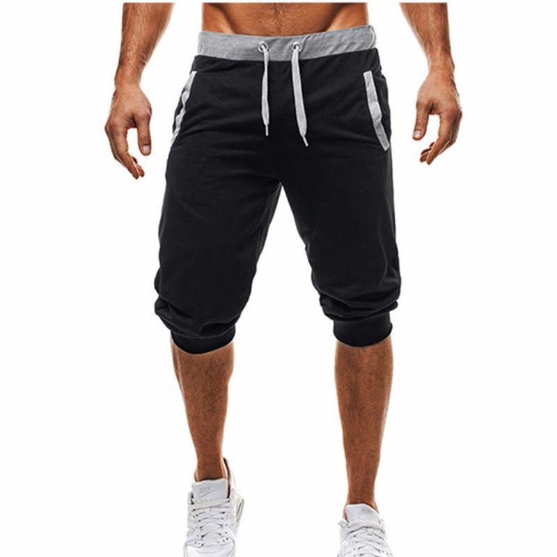 Titmsny лета 2018 тонкий брюки шорты Шорты мода мужская повседневная Jogger брюки свободные тренировочные брюки Мужские