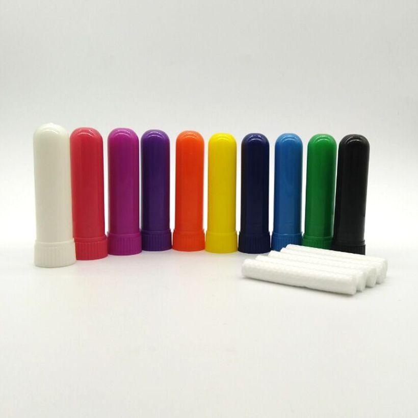 500 шт 10 цветов Бесплатная доставка Blank Носовой ингалятор Ароматерапия назальный ингалятор Палочки с самым лучшим качеством Викс D8xH51mm