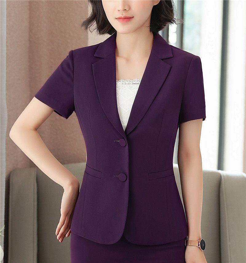 2018 Summer Female Short Sleeve Blazer Short Jacket Office Woman Blazers Korean Ladies Slim Thin Casual Suit jacket Blazer S-3XL