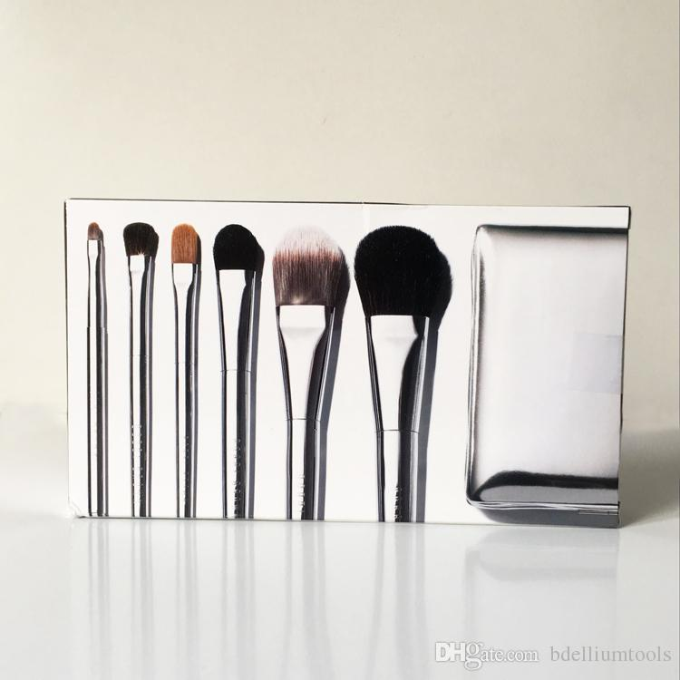 BB-Seires Gümüş Seyahat Fırça Seti 6 adet (göz kalemi / gölge / Sweep kapatıcı karıştırma Vakfı Allık) - Yüksek Kalite güzellik Makyaj Fırçalar Aracı