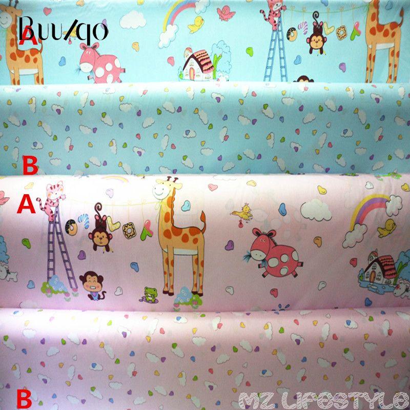 160 cm de ancho de dibujos animados 100% tela de algodón de tela de algodón de sarga del bebé por metro DIY que acolcha las sábanas de BabyChildren vestido material
