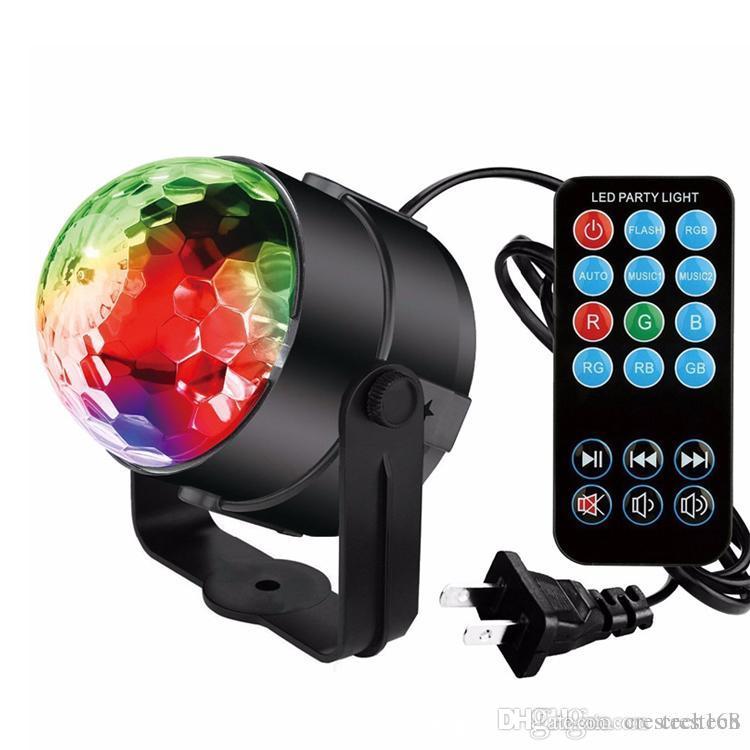 Sahne ışıkları DJ ışıkları Disko Parti Topu ışıkları, Blingco Dönen LED Sihirli ışıklar 3 W 7-Color Ses Aktif Sahne Strobe Etkisi