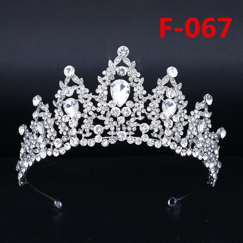 Gelin Büyük Taç Headpieces Rhinestone Kek Taç Headdress Prenses Headpieces Düğün Gelin Aksesuarları Gelinlik Modelleri Parti Düğün Için