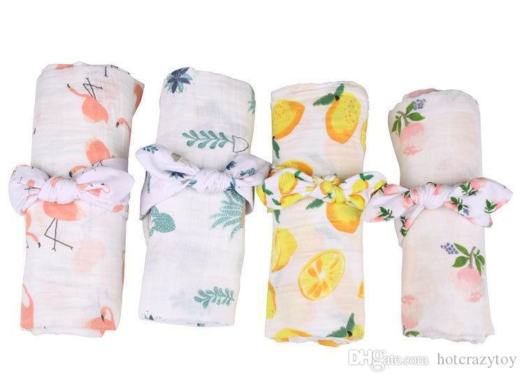 새로운 신생아 아기 꽃을 받고 담요 머리띠와 함께 면화 깜박이 레몬 장미 꽃 선인장