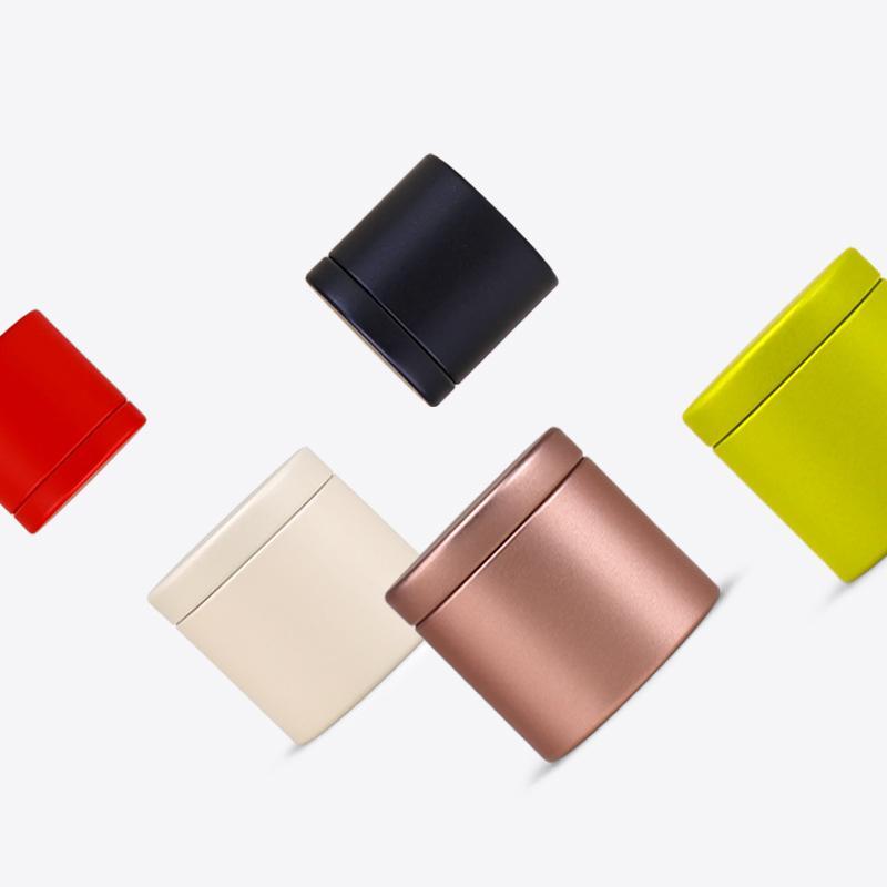 47x45mm Mini Small Tea Caddy Металлические жестяные коробки для хранения конфет Дело Организатор Box 5 цветов