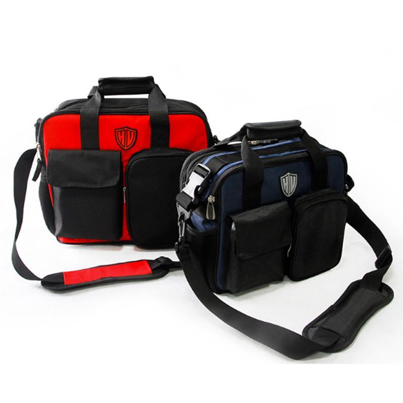 Urijk multifunción kit de mantenimiento eléctrico bolsa de herramientas bolsa de lona bolsa bandolera hebilla usable impermeable engrosamiento de la correa