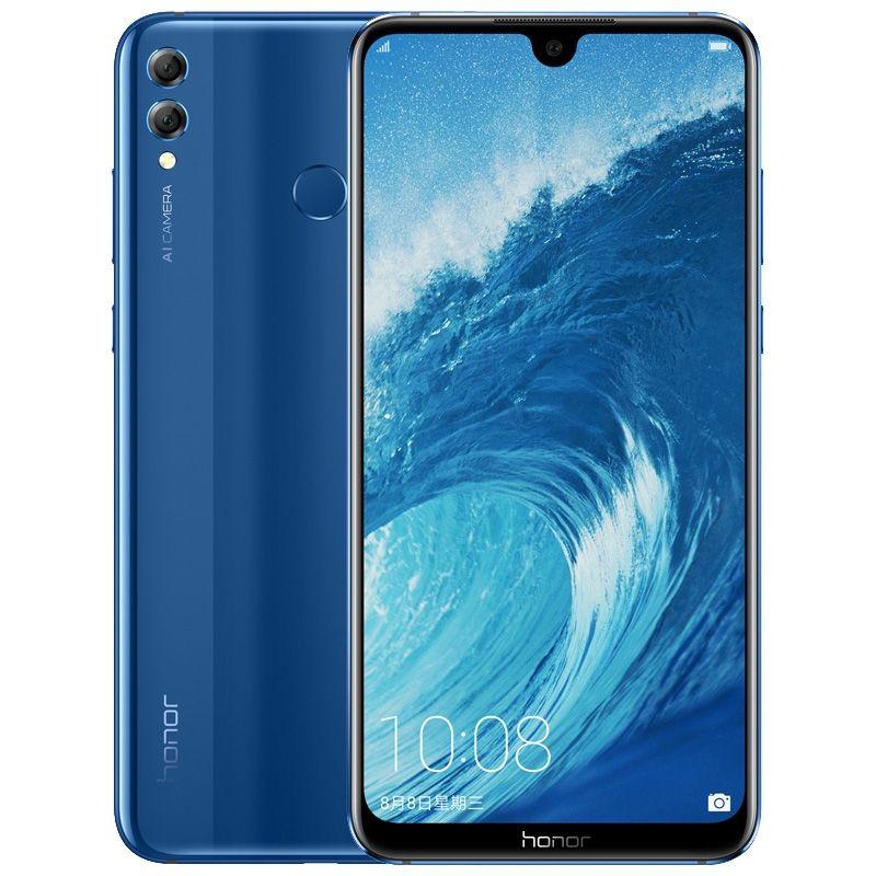 "Original Huawei Honor 8x Max 4G LTE 휴대 전화 4GB RAM 64GB 128GB ROM Snapdragon 660 octa 코어 Android 7.12 ""전체 화면 16.0MP 지문 ID 5000mAh 스마트 핸드폰"