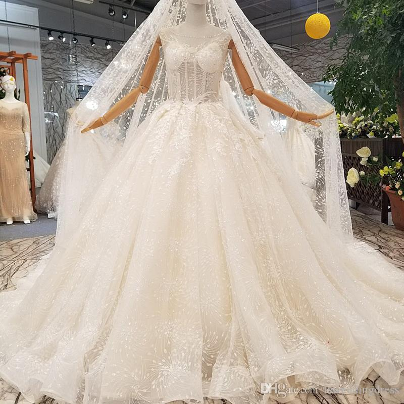 Transparent Fashion Wedding Dress Applique Beaded For Women Sexy See  Through Back Gowns With Veil Newest Design Sleeveless Bride Dress Full Ball  Gown