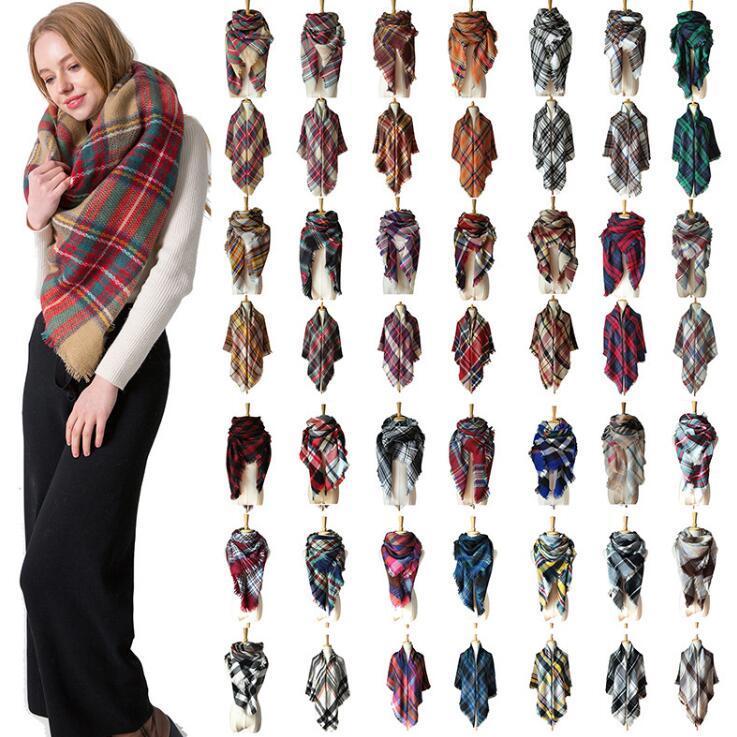 37 개 스타일 겨울 격자 무늬 스카프 광장 술 스카프 특대는 스카프 목도리 패션 격자 무늬 스카프 두꺼운 스카프 CCA10243의 20PCS 따뜻한 담요
