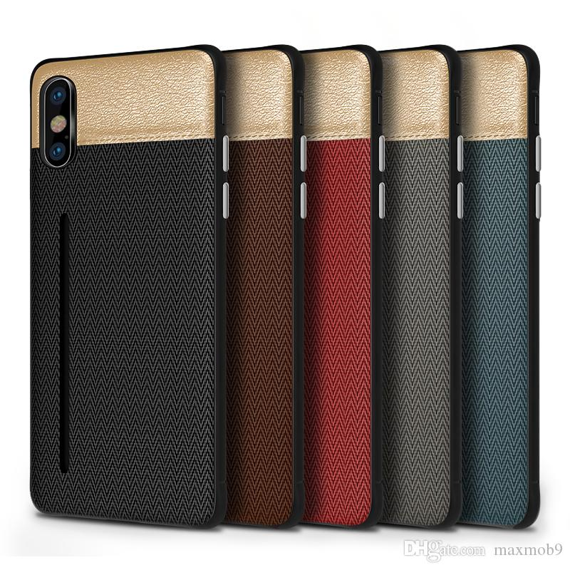 New luxury fabric for iphone 11 pro XS MAX XR X 6S 7 8 plus cell phone case credit card slots holder Samsung Galaxy S8 S9 S10 Plus Note 8 9