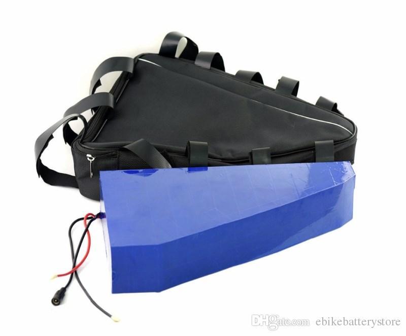 Brak niestandardowych Dostosuj 48V 20ah Trójkąt Torba Litowa Bateria jonowa dla e-bike 1000W z ładowarką 2A + TRIAN TRIANGLE