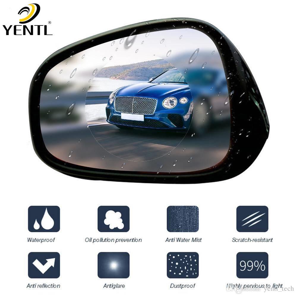 freies Verschiffen yentl 2ST Auto Anti-Fog Film Coating Regenschutz Rückspiegel wasserdichten Schutz Auto Anti-Fog-Beschichtung wasserdichtes Fenster
