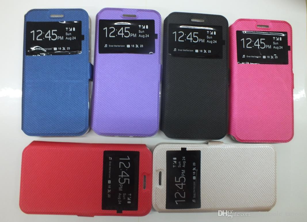 Pencere Görünümü Kılıfları Sony Xperia XA1 Artı XZ1 L1 E6 G3313 Z5 MINI Z5 Kompakt Hibrid PU Deri Silikon Flip Case Telefon Tutucu Standı Kapak