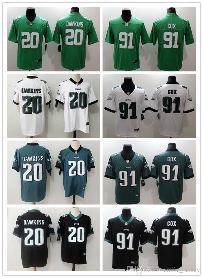 huge discount e1e22 2dbf4 2019 Mens 20 Brian Dawkins Philadelphia Jersey Eagles Football Jersey  Stitched Embroidery 91 Fletcher Cox Color Rush Football Stitching Jersey  From ...