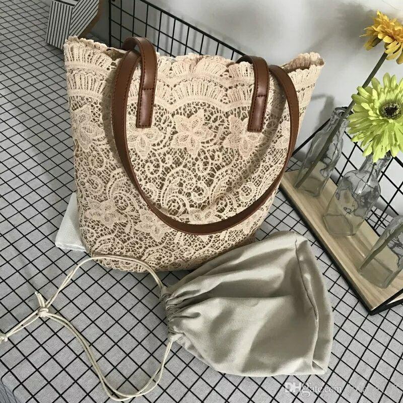 En gros et au détail 2018 nouveau sac à bandoulière en dentelle, sac à main, sac à provisions femme, livraison gratuite.