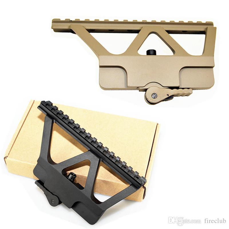 Tactical Picatinny Weaver Heavy Duty AK Side Mount Rail Quick QD Trilho 20mm Staccare Scope Sight Rail Picatinny Base