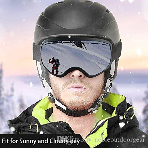 b1d5cd0c22a8 ... Ski Goggles OTG Snowboarding Goggles for Women and Men Wide Angle Anti- Fog Detachable Dual ...