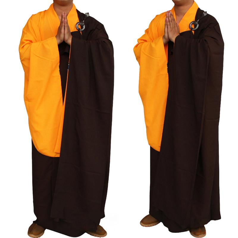 New Unisex Buddhist Monk Robe Zen Meditation Monk Robes Shaolin Temple Clothes Uniform Suits Costume Robes