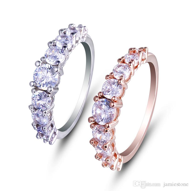 Fashion Jewelry Wholesale Gemstone Fashion Ring Finger Eternity Rings Photos YH-159