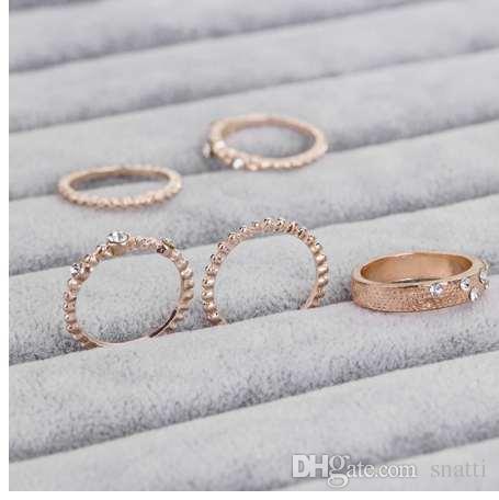 Mujeres exquisitas anillos ovales joyas novia compromiso anillo de bodas Anillos adornos de fantasía