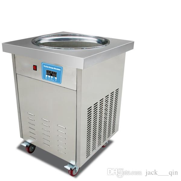 USA WH delivery smart Thai commercial fried ice cream machine 20 inches pan fried ice cream roll machine WITH REFRIGERANT 110v/220v