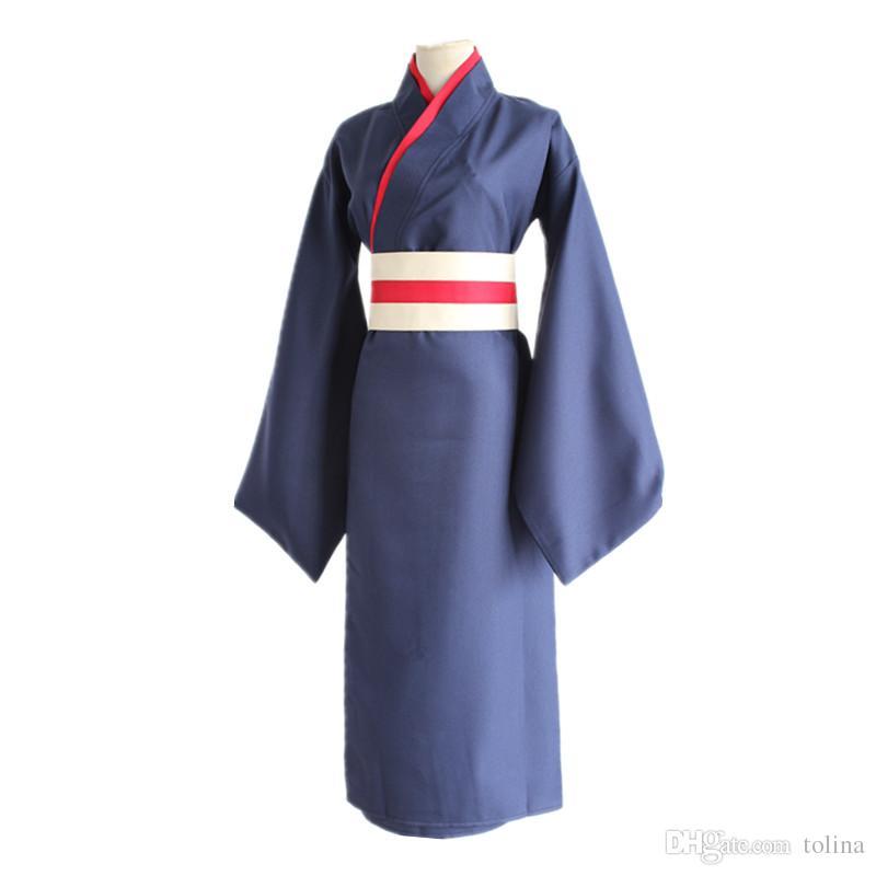 Kamisama Kiss Tomoe Cosplay Costume Red and Black Bathrobe Kimono