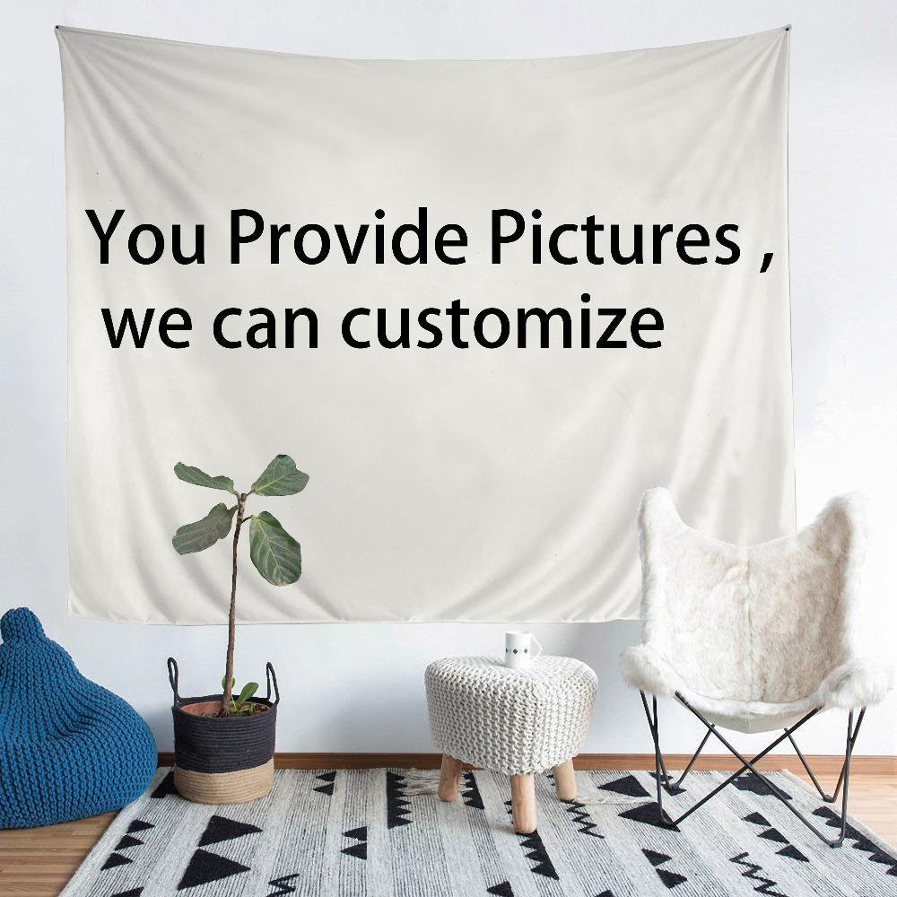 1 SET fornecer imagens podemos personalizar Tapestry Imprimir qualquer efeito real tamanho realista tapeçaria cobertor tapeçaria
