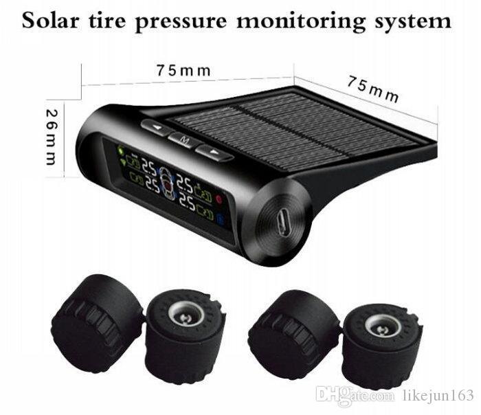 نظام مراقبة ضغط الإطارات للسيارة TPMS عرض الطاقة الشمسية 4 أداة تشخيص نظام إنذار السيارات