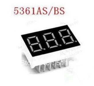 "10 PCS LD-5361AS 3 Digit 0.56"" RED 7 SEGMENT LED DISPLAY COMMON CATHODE"
