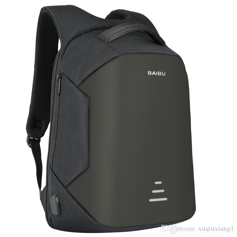 BAIBU NUEVOS Hombres 15.6 Mochila Portátil Mochila Antirrobo Usb Charging Mujeres School Notebook Bag Oxford Mochila de Viaje Impermeable