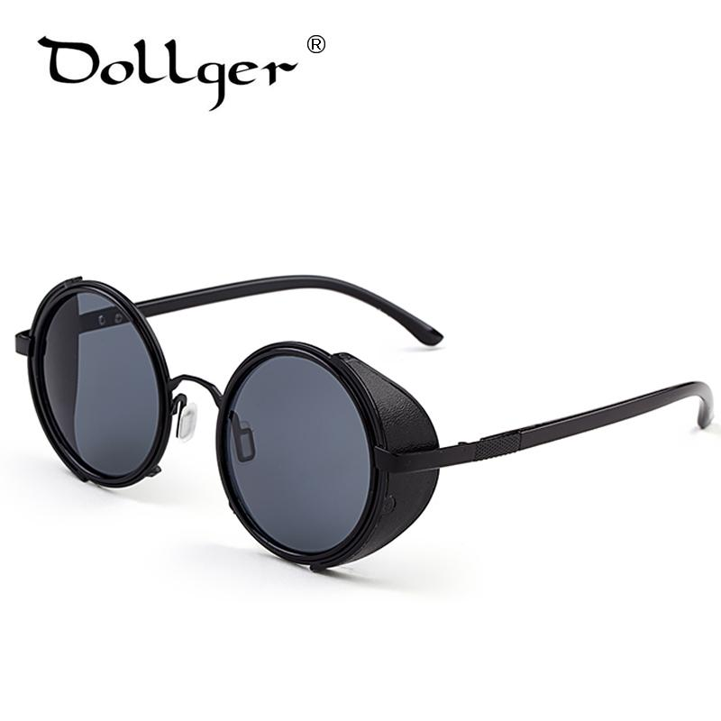 Dollger Vintage Round Steampunk Goggles Sunglasses for women Men Brand Designer Steam Punk Round Sun Glasses Female Gafas s004