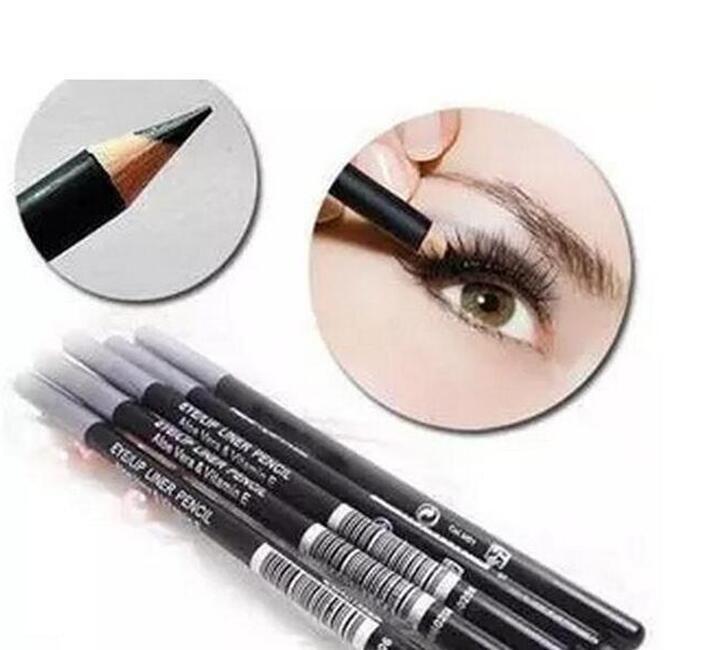 Atacado 12 pcs Frete Grátis Novo Olho / Lip Eyeliner Liner Lápis Frete Grátis Best-seller Bom Sale New Eyeliner Lipliner Penrandom Cor