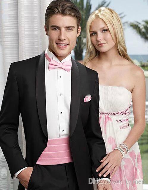 New Brand Black Long coat Custom Made Mens Suits Wedding Groom Slim Fit Smart Casual Wedding Prom Best Man Blazer 2 Pieces (Jacket+Pants)