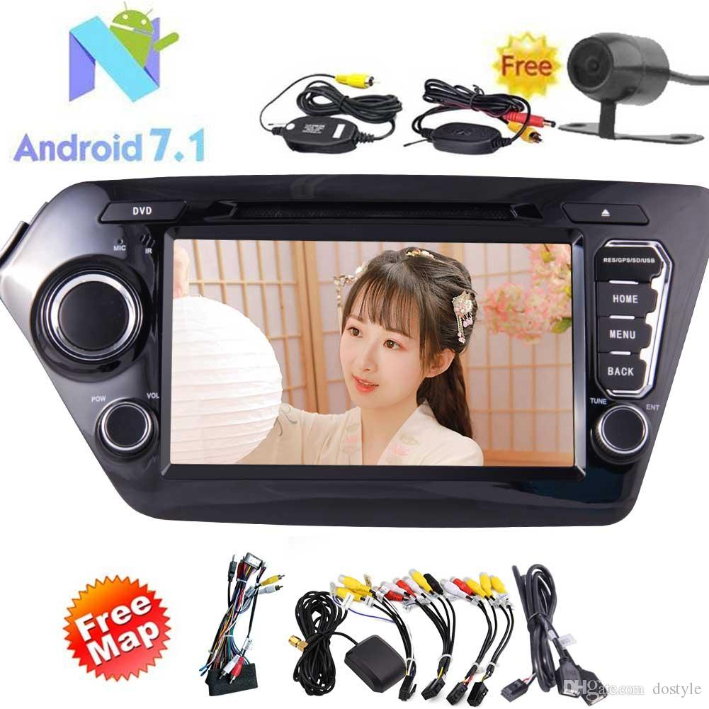 Eincar for KIA K2(2011-2012) 4-Core Android 7.1 Car dvd Stereo 8'' In Dash Double 2Din Vehicle Radio Receiver GPS Navigation Entertainment