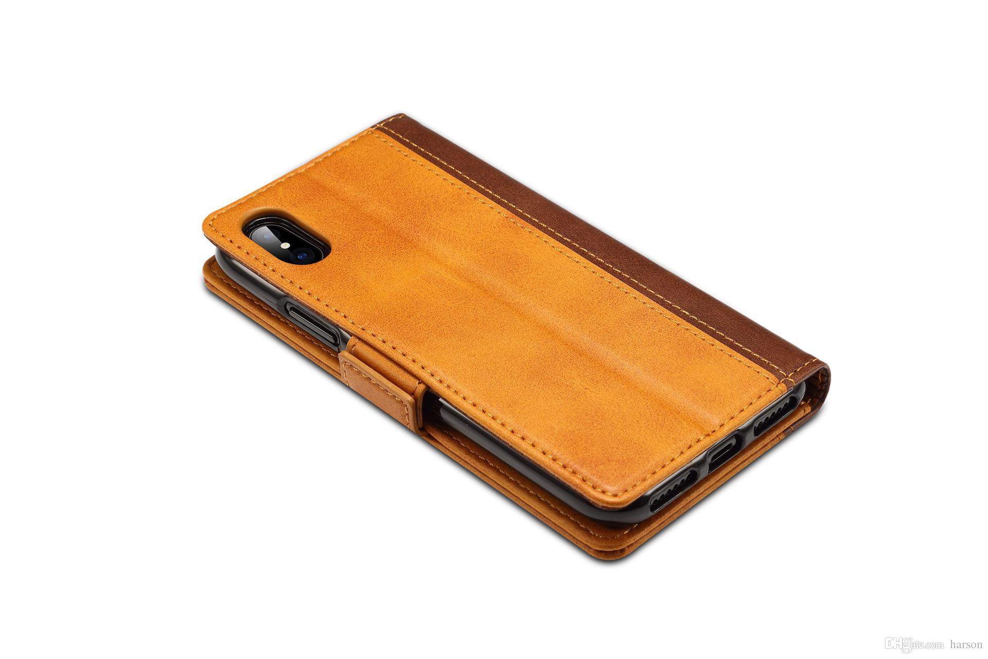 Желтый PU кожаный мобильный кожаный PU чехол для мобильного телефона для телефона XS Max DHL бесплатная доставка