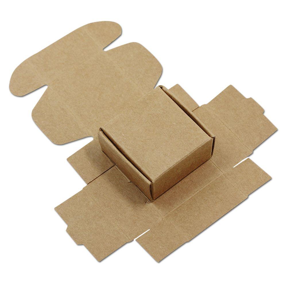 Großhandel Kleine 10,10  10,10  10 Cm Kraftpapier Box Hochzeit ...