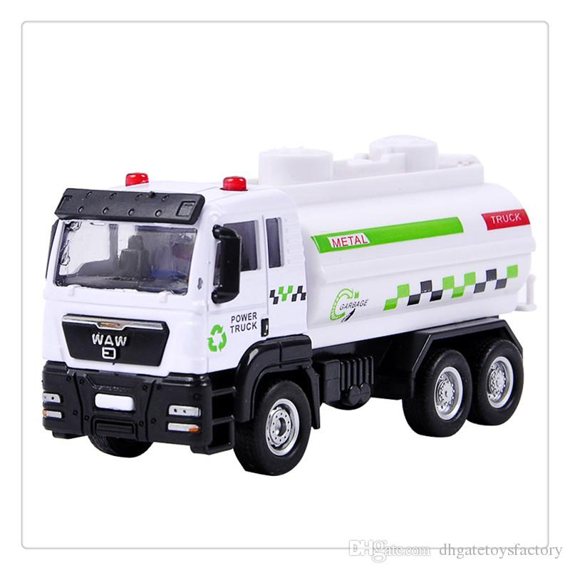 1:55 Push and Go Friction Powered Alloy ABS Metal Car Model Construction Trucks Toy Diecast Vehicle for Children Birthday Gifts