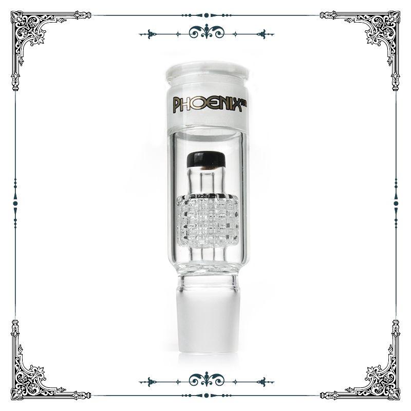 Nowy adapter szklany Phoenix z Matrix Perc # 34 Mężczyzna Kobieta Standardowy Rozmiar Szklany Perkolator Adapter Concler Do Bongs Akcesoria do rur