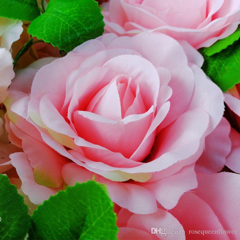 60 * 40cm Rose del brote de flor artificial de seda de la flor de Rose pared Antecedentes de la boda del césped / pilar de cumpleaños de la flor decoración del hogar