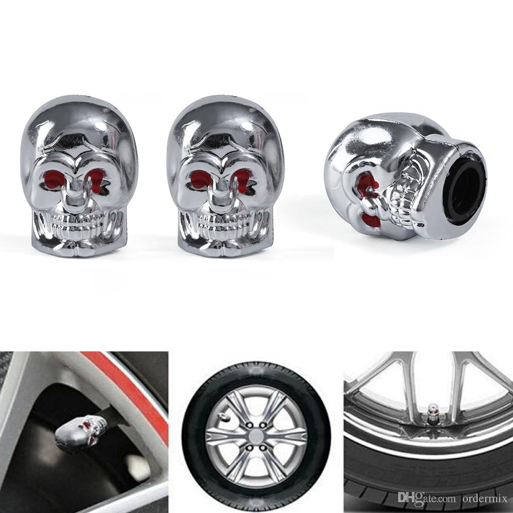 Car Truck Air Dust Caps Covers 4Pcs Aluminum Alloy Spike Wheel Tire Valve Stem Wheel Valve Stem Auto Wheel Tyre Dust Stems Cover red