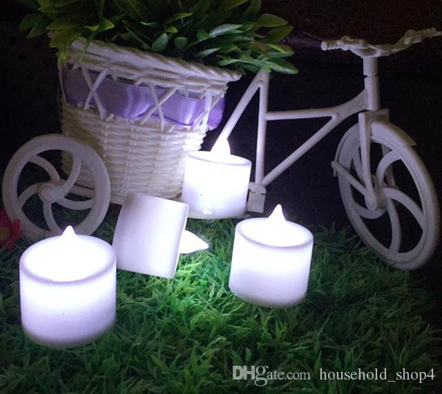 colourful Flameless Candles Pillar LED Candle Lamp Yellow Wave Shape LED Candles For Party Christmas Decoration