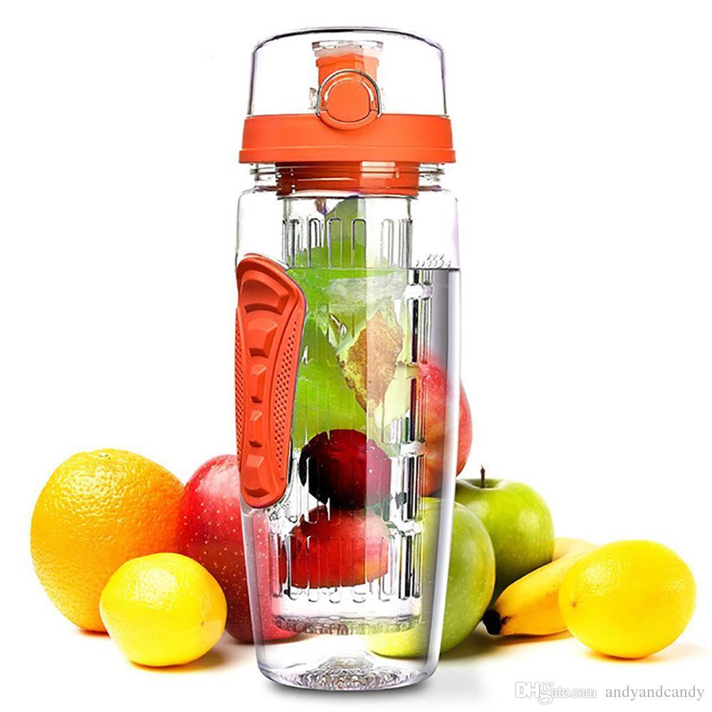 32 أوقية 900 ملليلتر التحلل عصير الفاكهة شاكر الرياضة الليمون زجاجة المياه bpa الحرة جولة المشي المحمولة تسلق كامب زجاجات شعار مخصص