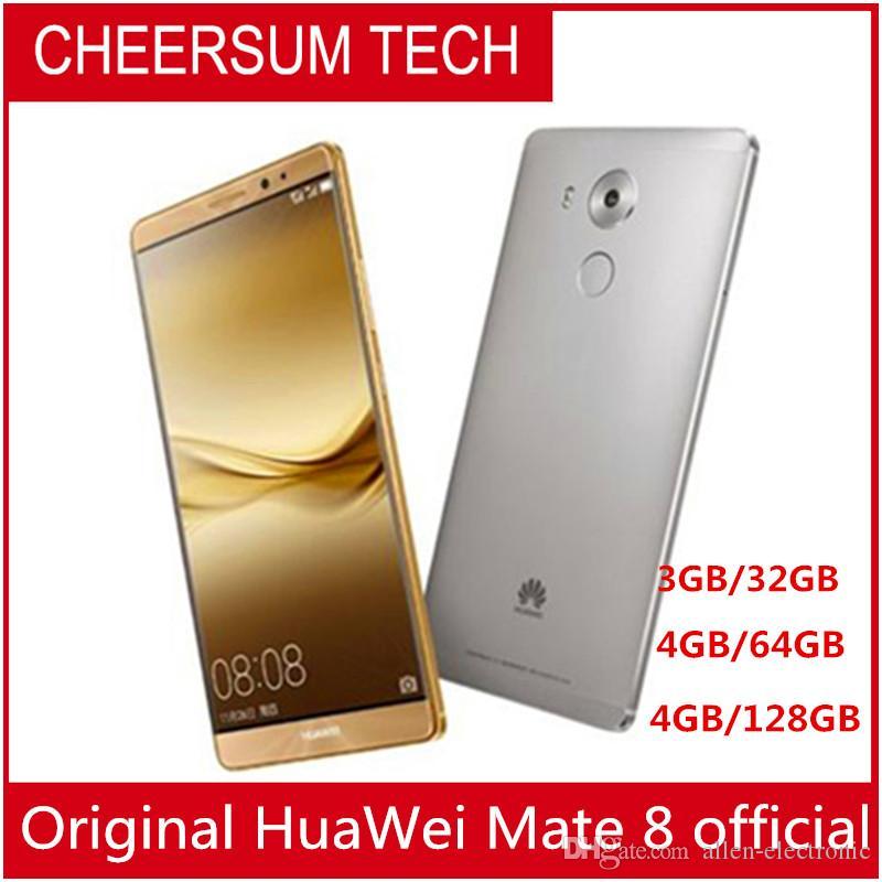 """تجديد Global Firmware HuaWei Mate 8 4G LTE Smart Phone Kirin 950 Android 6.0 6.0 """"FHD 1920X1080 4GB RAM 128GB ROM 16.0MP Touch ID NFC"""