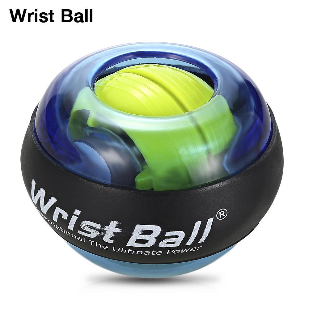 Luminous Wrist Ball Gyroscope Roller Force Ball Gyro Power Wrist Ball Arm Exerciser Strengthener for Computer Typist Pianist