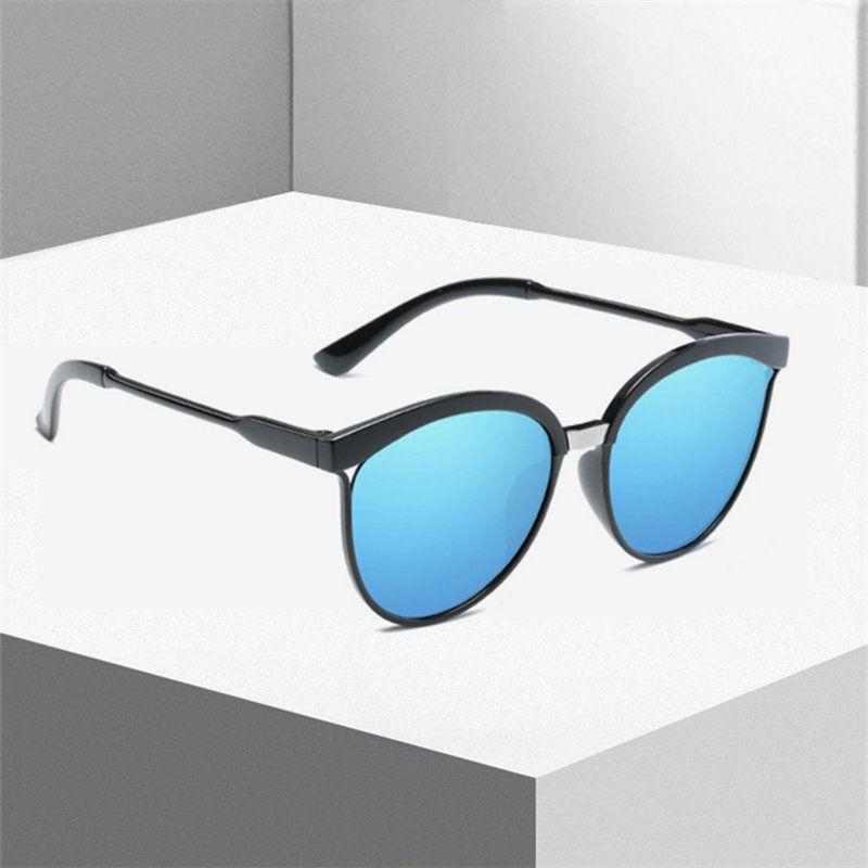 KUJUNY Óculos De Sol Das Mulheres Revestimento Reflexivo Óculos De Sol Do Vintage Rodada Óculos De Sol