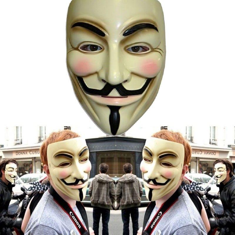 New V Word Vendetta Mask Guy Fox Halloween Costume Clothing White Anonymous Mask Fast Free Shopping
