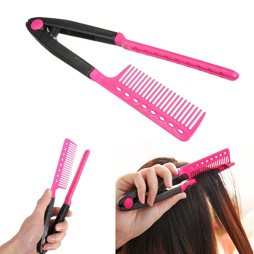 V typ haarglätter kamm diy salon firekleidet styling tool curls haarbürste kämme dhl frei