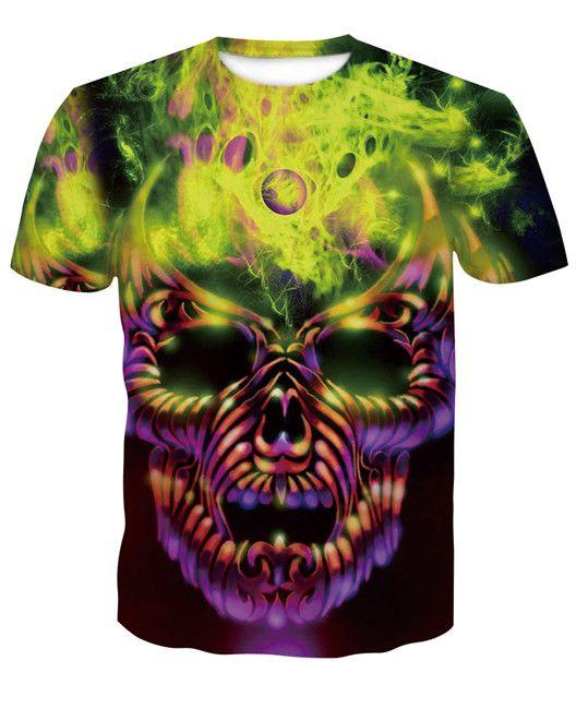 skull T shirts 3D Men T-shirts Novelty Animal Tops Tees Male Short Sleeve Summer Round Neck Tshirts dropshiping